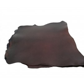PIEL DE VAQUETILLA COLOR MARRON OSCURO 3,0 mm